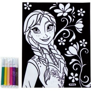 Anna Velvet Coloring Poster with Markers - Frozen
