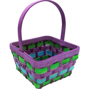 Medium Pastel Wood Easter Basket