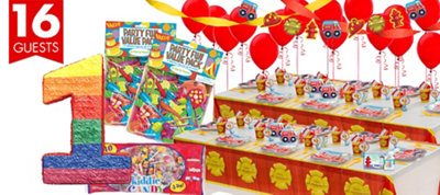 Firefighter 1st Birthday Party Supplies Ultimate Party Kit
