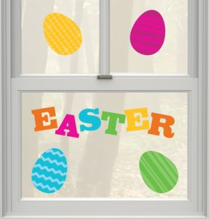 Easter Egg Gel Cling Decals 10ct
