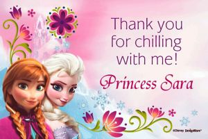 Custom Frozen Thank You Notes