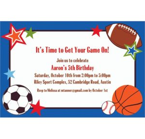 Custom Play Ball Party Invitations