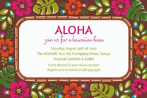 Custom Summer Luau Invitations