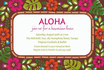 Summer Luau Custom Invitation