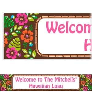 Custom Summer Luau Banner 6ft