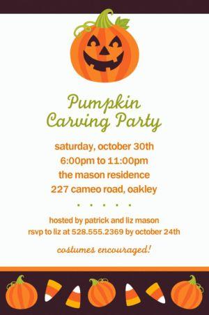 Custom Halloween Friends Halloween Invitations