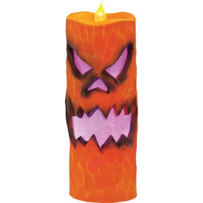 Flameless Jack-o'-Lantern Candle