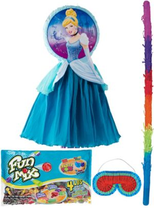 Pull String Cinderella Pinata Kit Deluxe