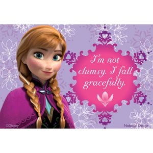 I Fall Gracefully Anna Magnet - Frozen