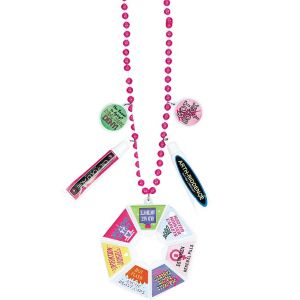Pink Over the Hill Survival Bead Necklace