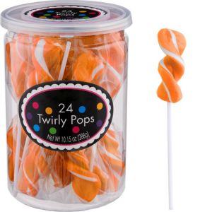 Twirly Orange Lollipops 24pc