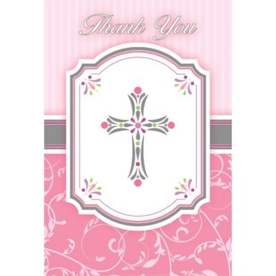 Girl's Communion Thank You Notes 8ct