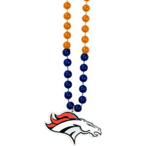 Denver Broncos Pendant Bead Necklace