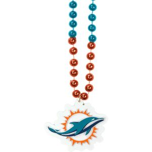 Miami Dolphins Pendant Bead Necklace