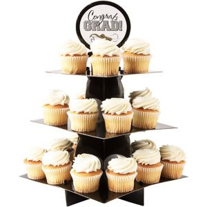 Black Gold Amp Silver Graduation Cupcake Stand 11 3 4in X