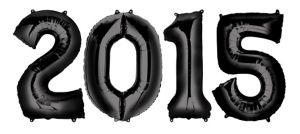 Black 2015 Number Balloons