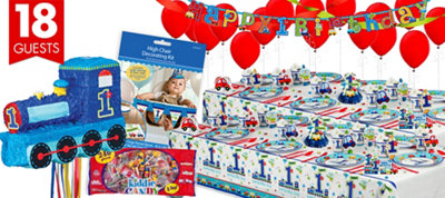 All Aboard 1st Birthday Party Supplies Ultimate Party Kit