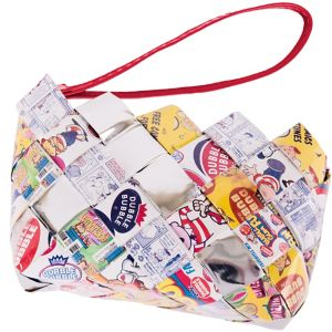 Dubble Bubble Candy Wrapper Wristlet