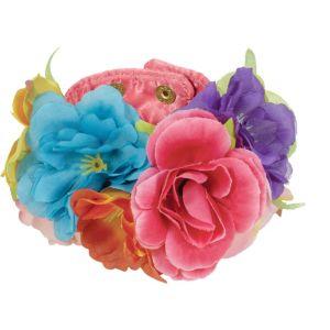 Pink Floral Wrist Cuffs 2ct