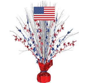 American Flag Spray Centerpiece