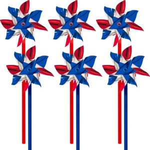 Patriotic Red, White & Blue Pinwheels 6ct