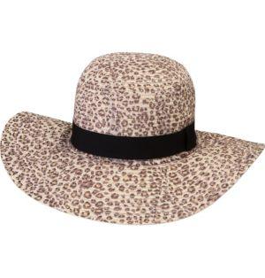Leopard Floppy Straw Hat