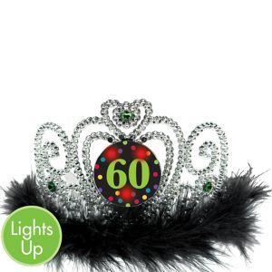 Light-Up 60th Birthday Tiara