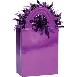Purple Mini Tote Balloon Weight