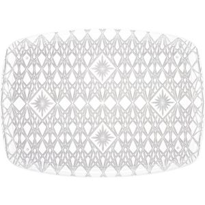 CLEAR Plastic Crystal Cut Rectangular Platter