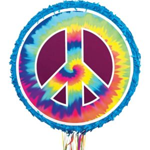 Tie-Dye Peace Sign Pinata