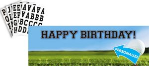 Golf Personalized Banner