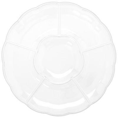 CLEAR Plastic Chip 'N Dip Platter