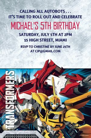 Custom Transformers Invitations