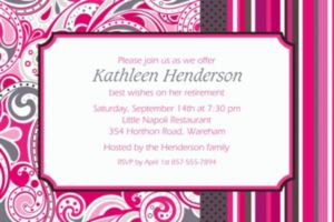 Custom Pink Paisley Invitations