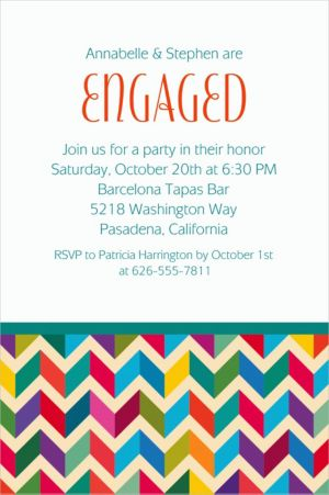 Custom Multi-Chevron Invitations
