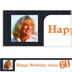 Custom Big Celebration 60 Photo Banner 6ft