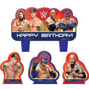 WWE Birthday Candles 4ct