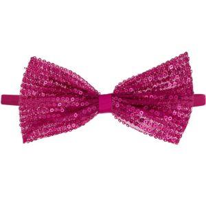 Child Pink Sequin Bow Elastic Headband