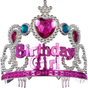 Child Pink Birthday Girl Tiara