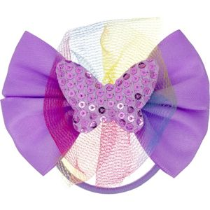 Sequin Butterfly Purple Bow Hair Tie