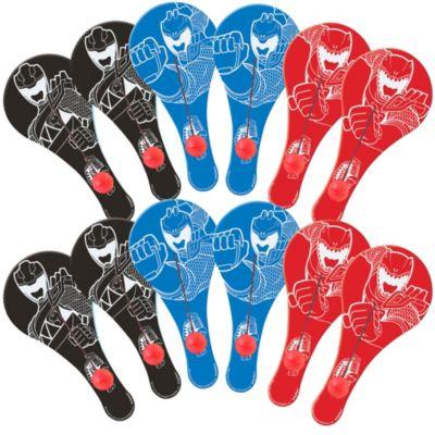 Power Rangers Paddle Balls 12ct