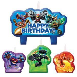 Skylanders Birthday Candles 4ct