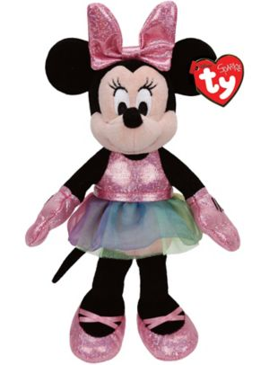 Sparkle Minnie Mouse Ballerina Beanie Buddies Plush