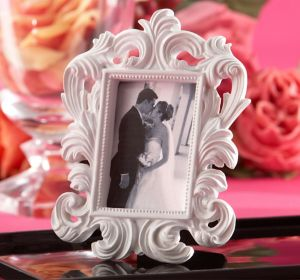 White Baroque Photo Frame Place Card Holder