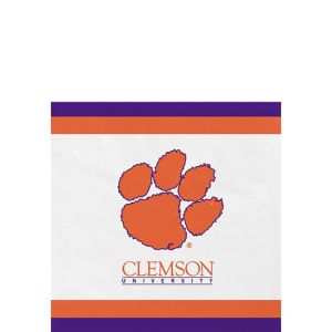 Clemson Tigers Beverage Napkins 24ct