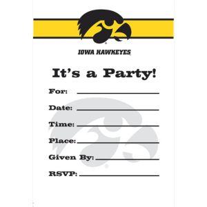 Iowa Hawkeyes Invitations 8ct