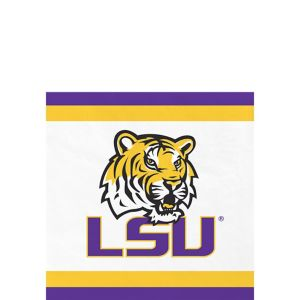 Louisiana State Tigers Beverage Napkins 24ct
