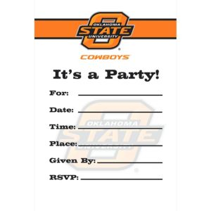 Oklahoma State Cowboys Invitations 8ct