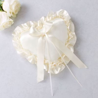 Ivory Heart Ring Bearer Pillow