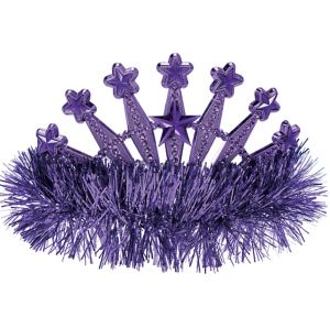 Purple Star Tinsel Tiara